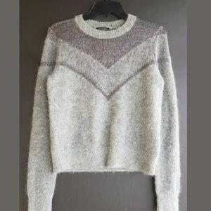 Rag & Bone Blaze Crew Neck Sweater XS Gray